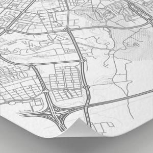 Detalle del mapa con estilo Clean de Zaragoza