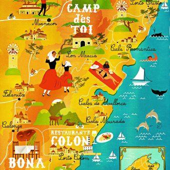 Mapa ilustrado de Mallorca