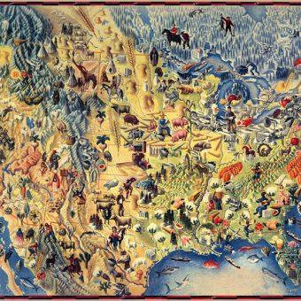 Mapa ilustrado de América del Norte