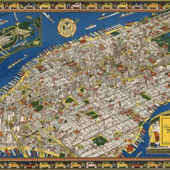 A map of the wondrous isle of Manhattan