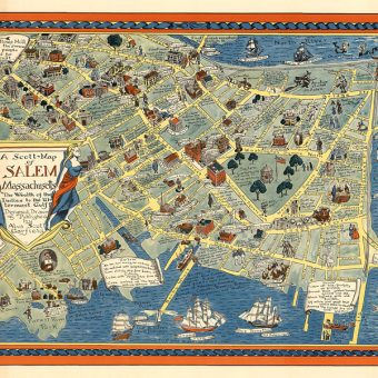 A Scott-Map of Salem Massachusetts