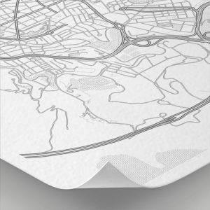 Detalle del mapa con estilo Clean de Bilbao