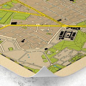 Detalle del plano del Barrio de Chamberí de Madrid