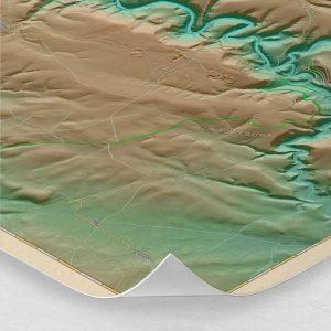 Ampliación del mapa de las Hoces del Río Duratón