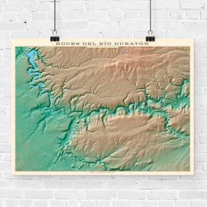 Mapa topográfico de las Hoces del Río Duratón