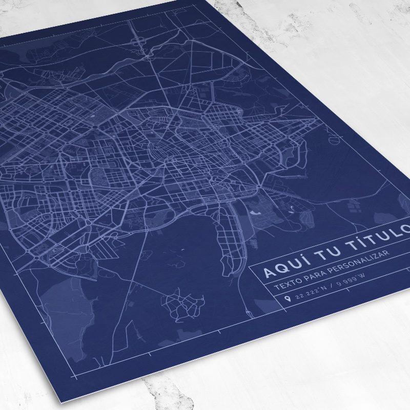 Vista del mapa de estilo Blueprint para personalizar