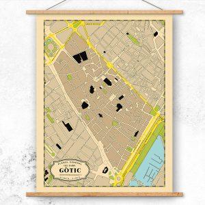 Plano del Barrio Gótico de Barcelona