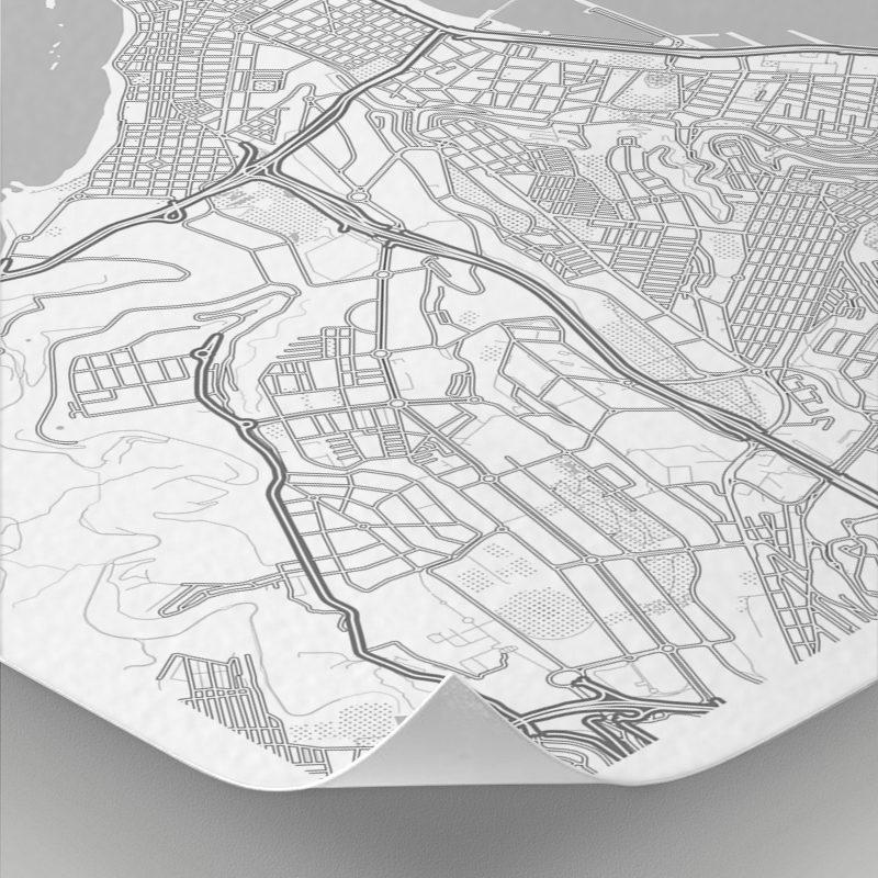 Detalle del mapa con estilo Clean de Gran Canaria