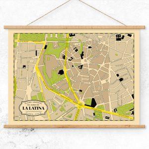 Plano del Barrio de La Latina de Madrid