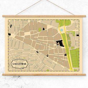 Plano del Barrio de Las Letras de Madrid