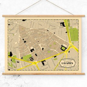 Plano del Barrio de Lavapiés de Madrid