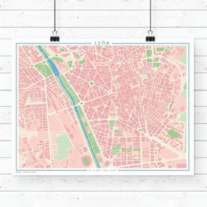 Mapa estilo vintage de León