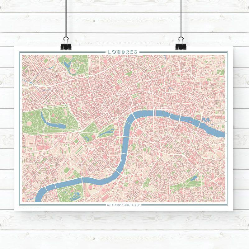 Mapa estilo vintage de Londres