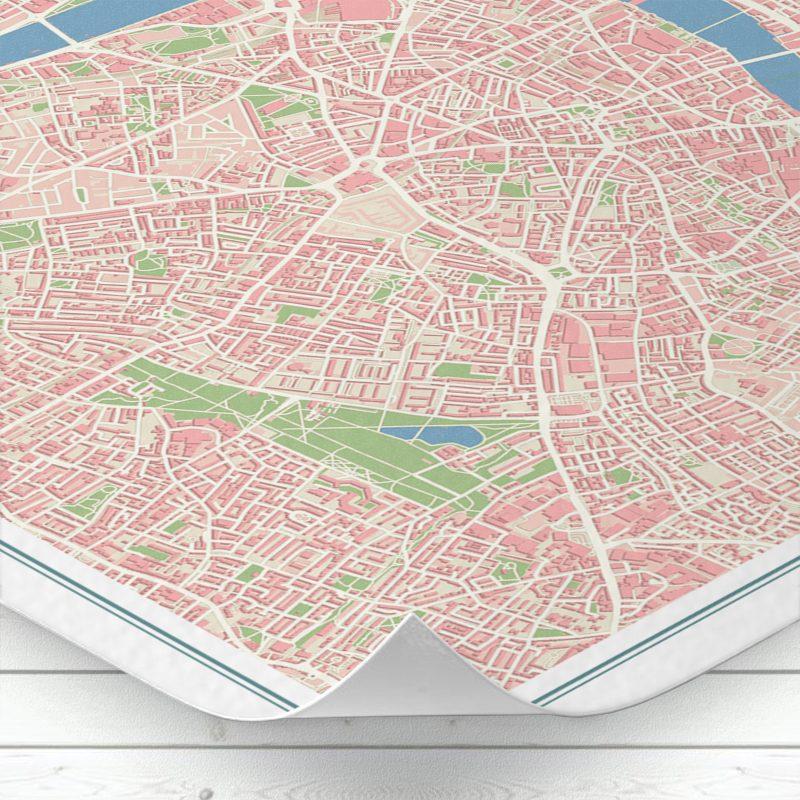 Detalle del mapa de Londres con estilo Vintage