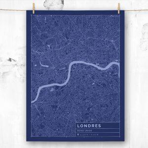 Mapa de estilo Blueprint de Londres
