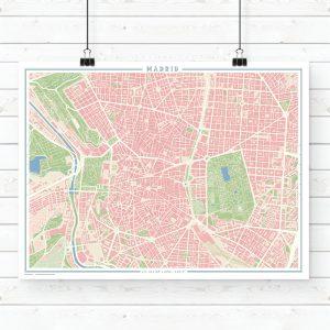 Mapa estilo vintage de Madrid