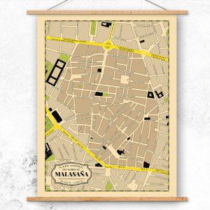 Plano del Barrio de Malasaña de Madrid