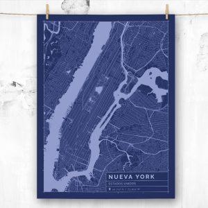 Mapa de estilo Blueprint de Nueva York