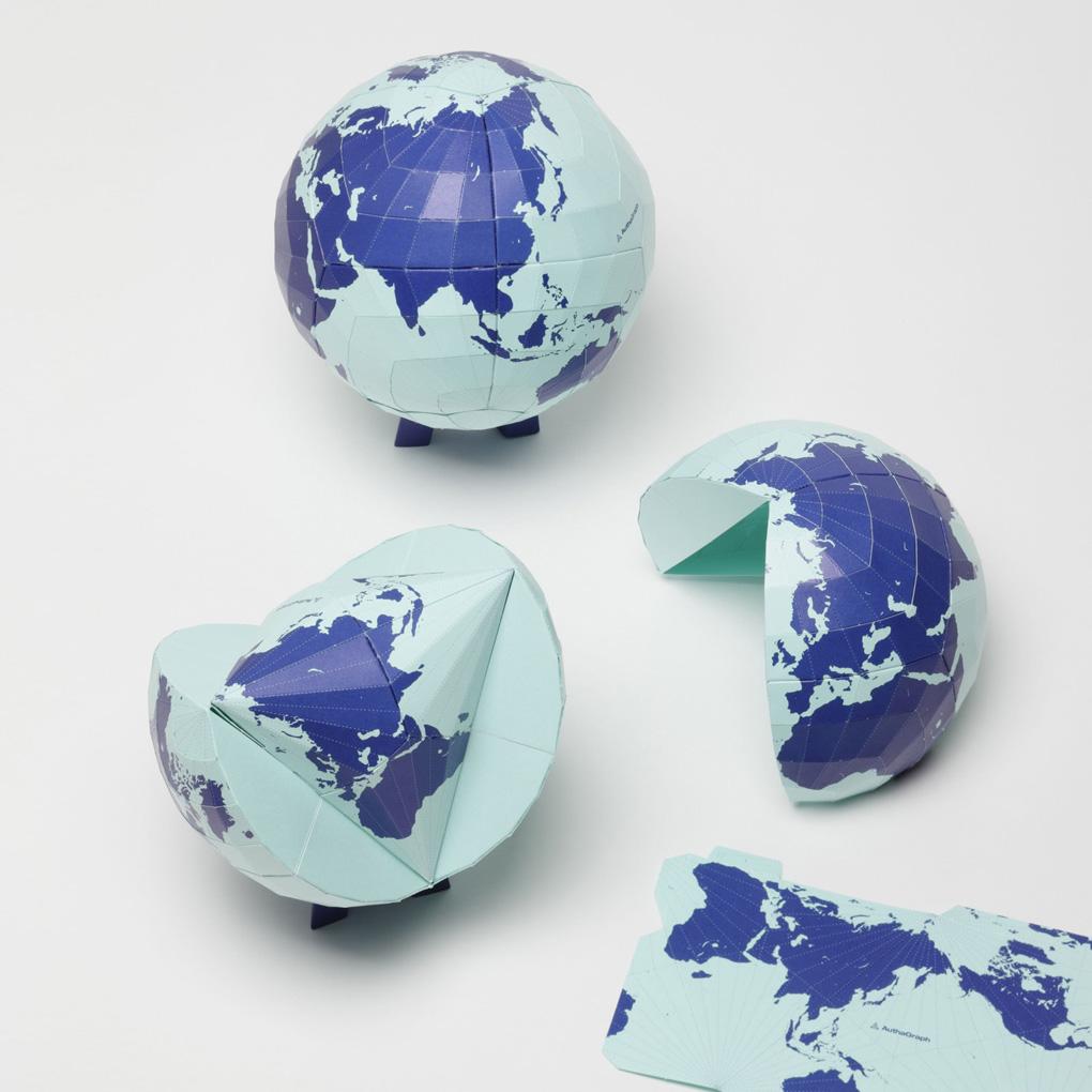 Origami del mapamundi AuthaGraph