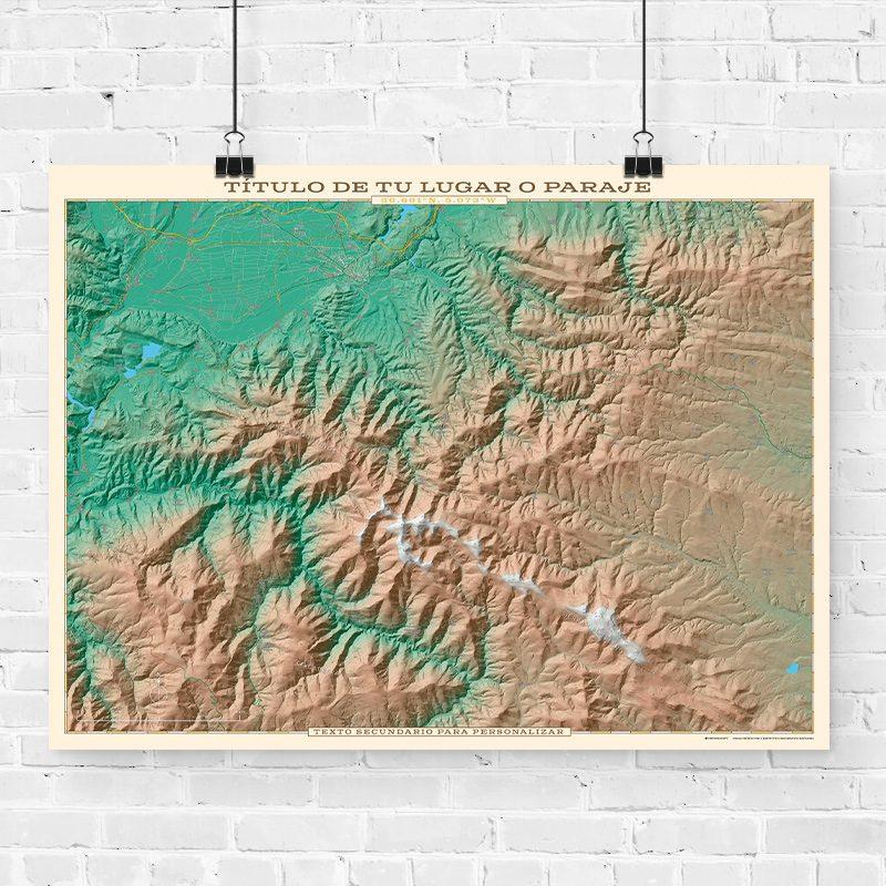 Mapa topográfico para personalizar