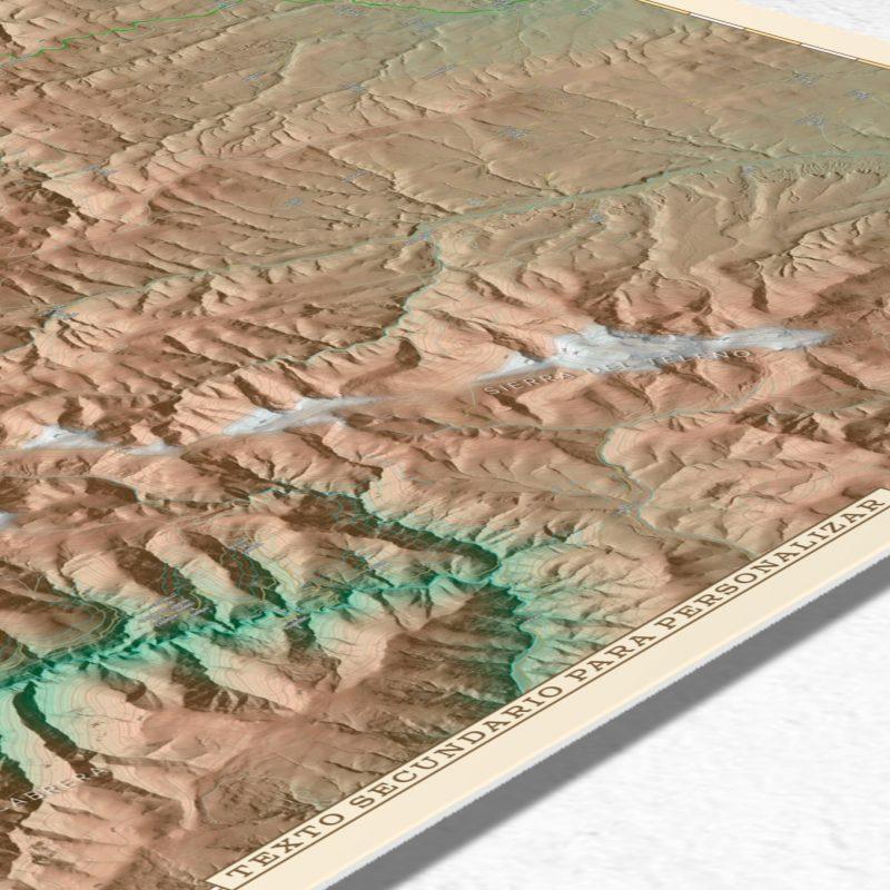 Detalle inferior del mapa topográfico para personalizar