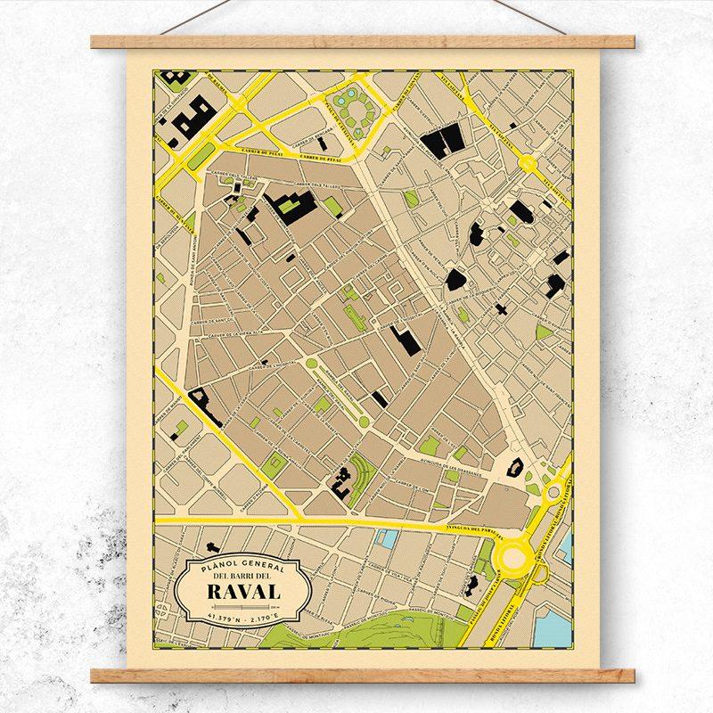 Plano del Barrio del Raval de Barcelona