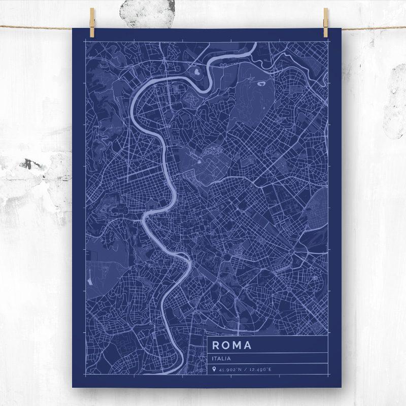 Mapa de estilo Blueprint de Roma