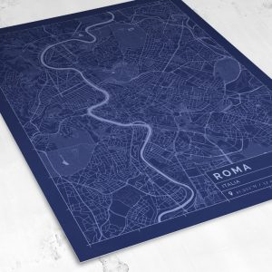 Vista del mapa de estilo Blueprint de Roma