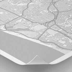 Detalle del mapa con estilo Clean de San Franciasco