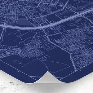 Detalle del mapa de estilo Blueprint de Valencia