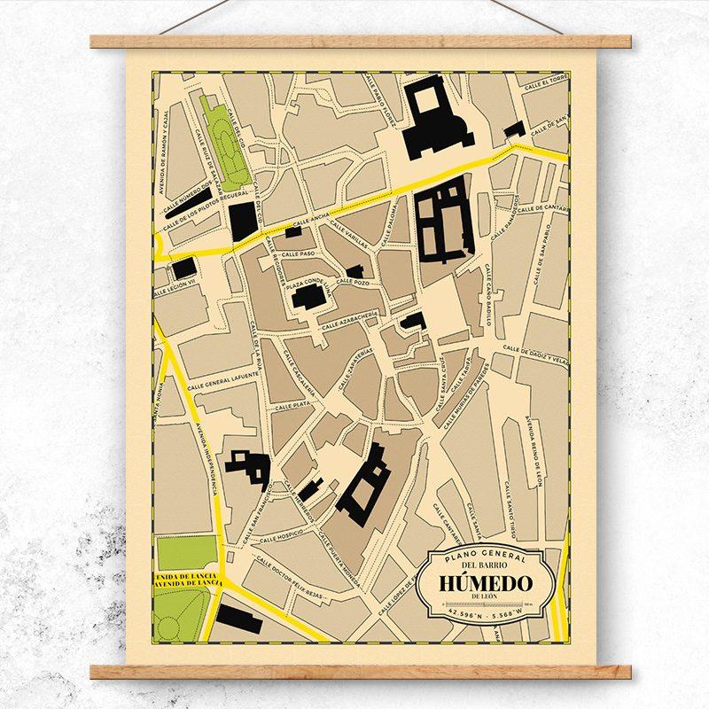 Mapa del Barrio Húmedo de León