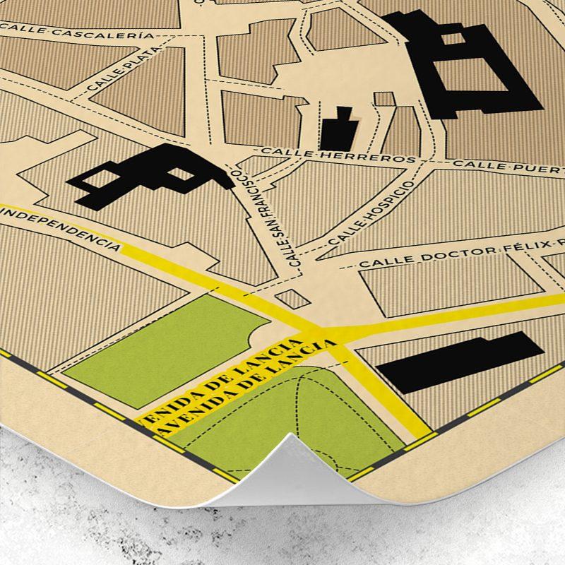 Detalle del mapa del Barrio Húmedo de León