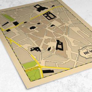 Vista del mapa del Barrio Húmedo de León