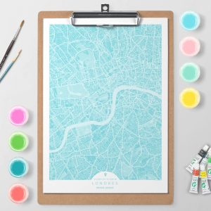 Mapa de Londres en Color Block d