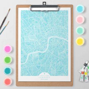 Mapa de Londres en Color Block d