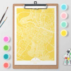 Mapa de Zaragoza en Color Block