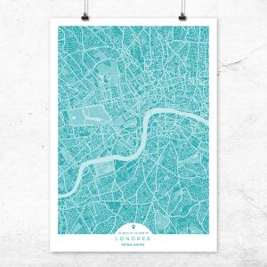 Mapa de Londres en color Deep Blue