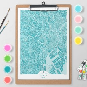 Mapa de Tokio en Color Block