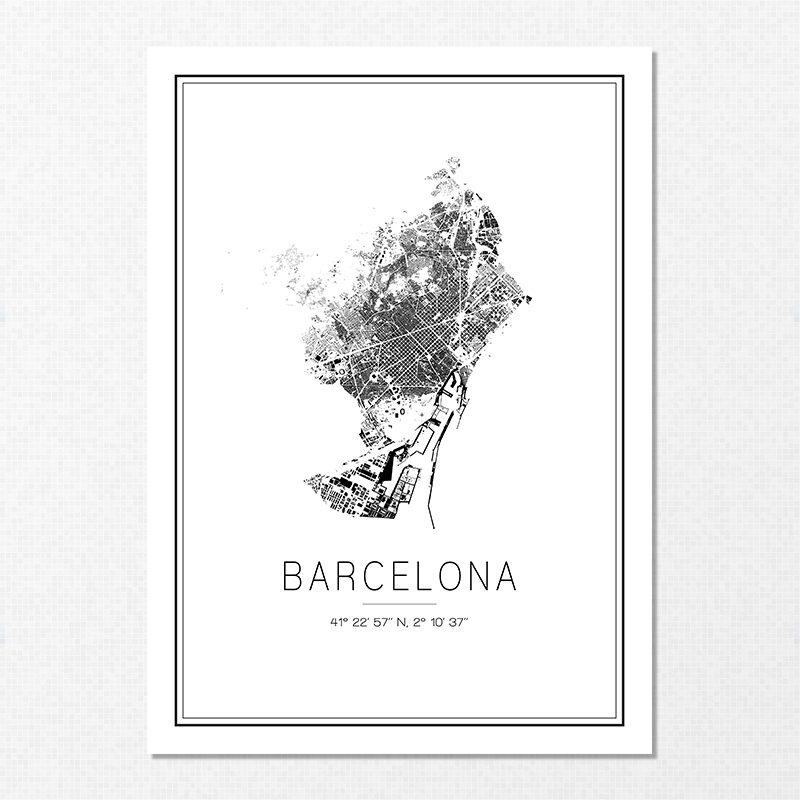 Mapa minimalista de Barcelona
