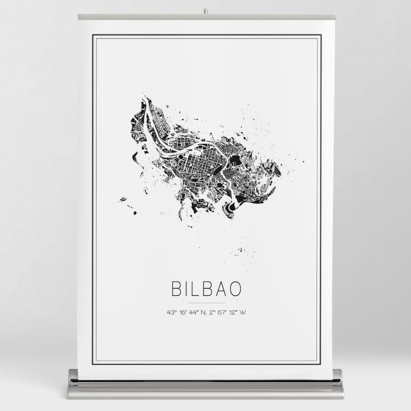 Mapa minimalista de Bilbao