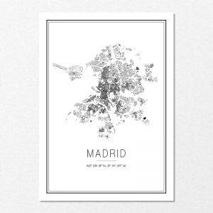 Mapa minimalista de Madrid