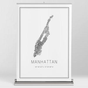 Mapa minimalista de Manhattan