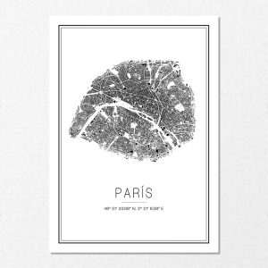 Mapa minimalista de París