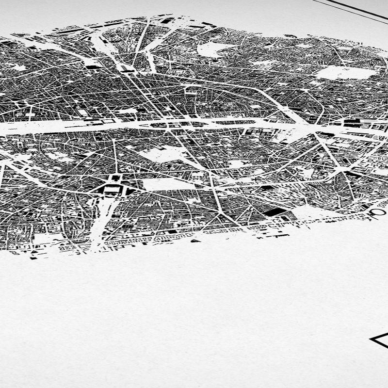 Detalle del mapa minimalista de París