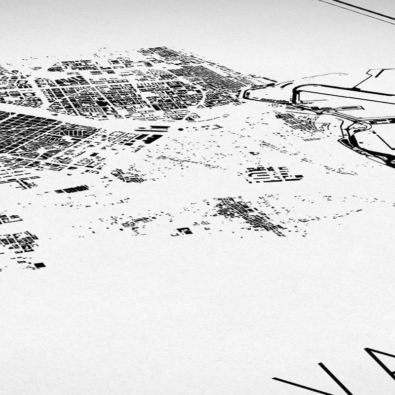 Detalle del mapa minimalista de Valencia