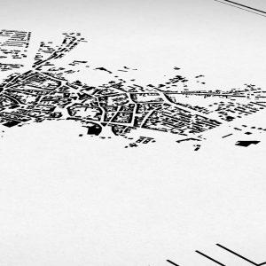 Detalle del mapa minimalista para personalizar