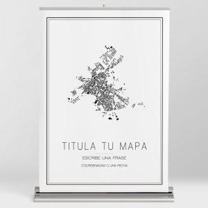 Mapa minimalista para personalizar