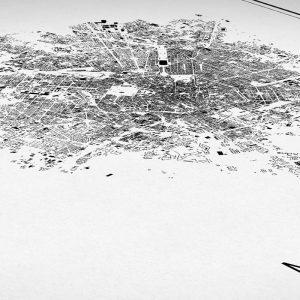 Detalle del mapa minimalista de Milán