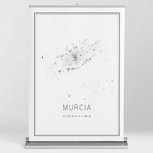 Mapa minimalista de Murcia