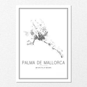 Mapa minimalista de Palma de Mallorca